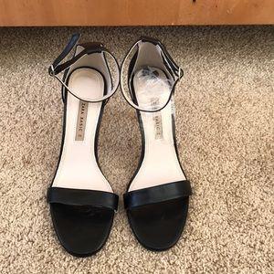 NWOT! Zara Basic size 39, black ankle strap heels
